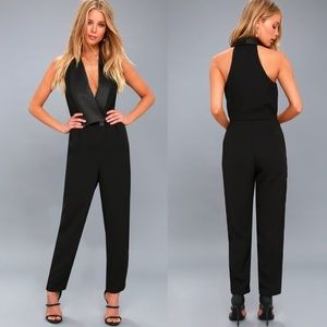 Lulu's Park Avenue Black Sleeveless Jumpsuit